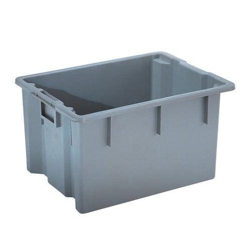 cajón de plástico / para aplicaciones farmacéuticas / con asideros / con tapa