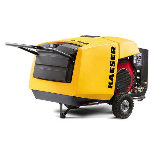 compresor de aire / con ruedas / con motor eléctrico / de tornillo