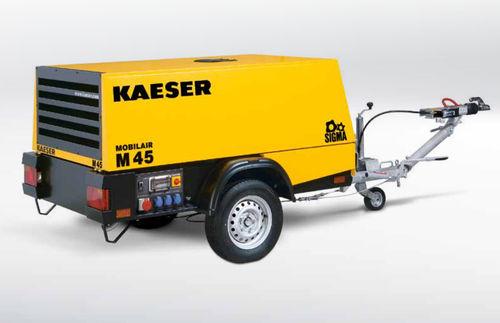 compresor de aire / móvil / con motor diésel / de tornillo