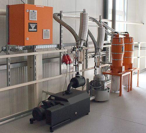 bomba de vacío para transporte neumático / de uñas / de alta eficacia / para granulados