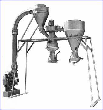 separador de ciclón / de granulado / para granel / de plásticos