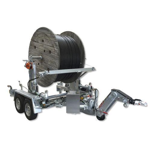 remolque en tándem / para transporte y tendido de cables / portabobina / hidráulico