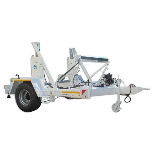 remolque de 1 eje / para transporte y tendido de cables / portabobina / hidráulico