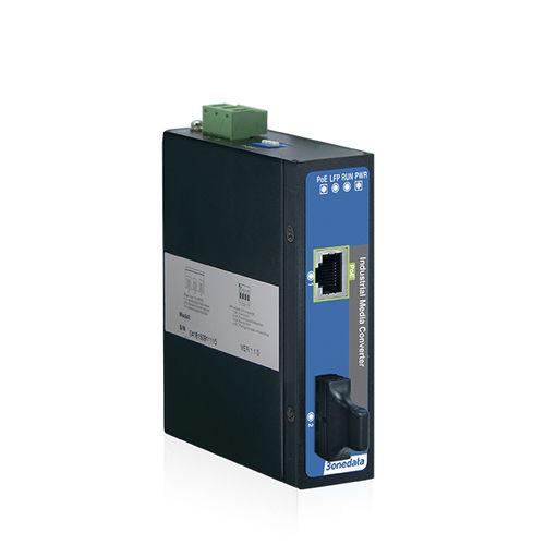 convertidor de medios / Gigabit Ethernet / en riel DIN / industrial