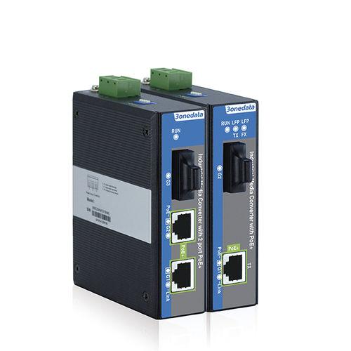 convertidor de medios / Gigabit Ethernet / industrial / de alimentación Ethernet