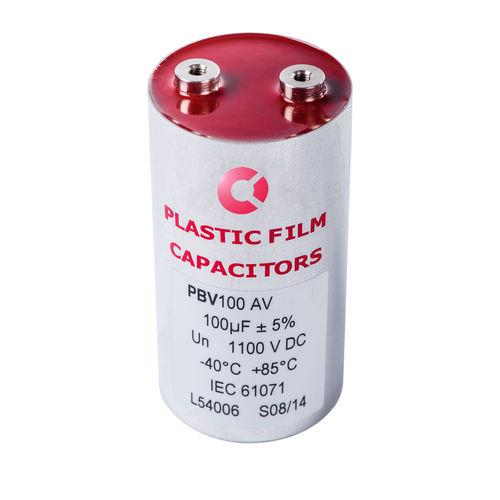 condensador eléctrico de película de polipropileno metalizado / radial / cilíndrico / axial