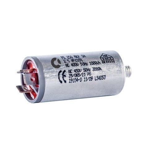 condensador eléctrico de película / de rosca / de potencia / no inductivas