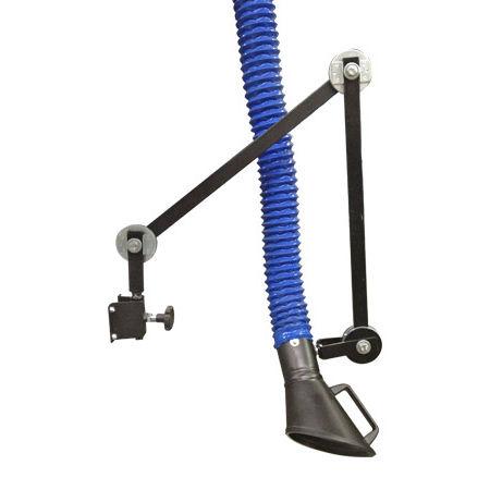 brazo de extracción fijo / flexible / para polvo