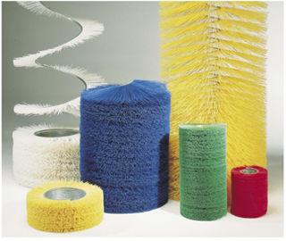 cepillo cilíndrico espiral / para rascar / de plástico