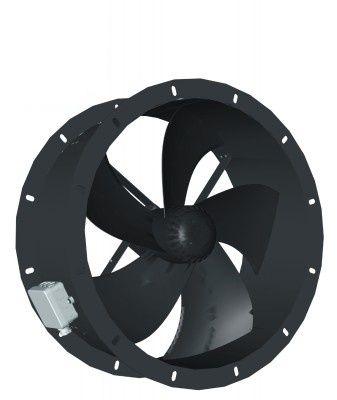 ventilador axial / de circulación de aire / de accionamiento directo / canalizable
