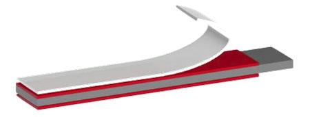 cinta adhesiva doble cara / para la industria / no tejida