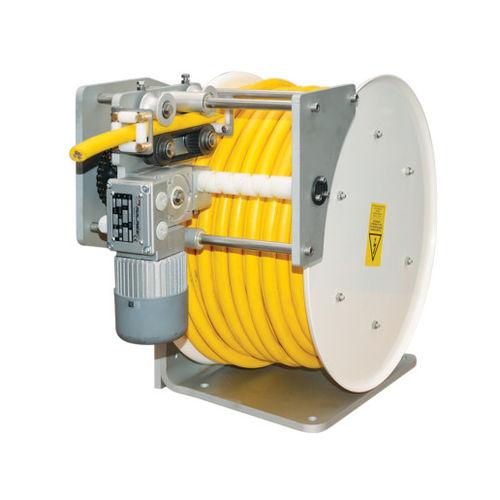 enrollador de cables / motorizado / fijo / para aplicaciones marinas