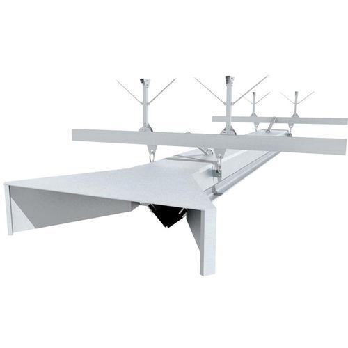 riel de guiado lineal / de aluminio / con ruedecillas