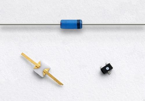 diodo con unión PN / con terminales axiales / rectificador / RF