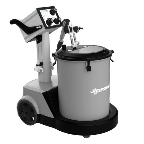 máquina de revestimiento de pintura en polvo con pistola electrostática