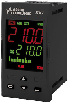 controlador de temperatura doble visualizador led / PID / programable / IP54