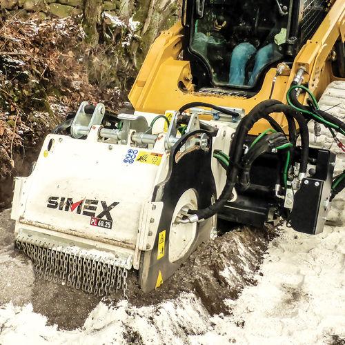 fresadora en frío para minicargadora compacta / compacta / para asfalto