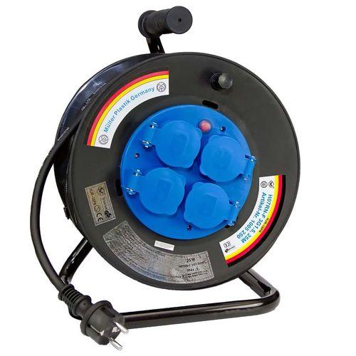enrollador de cables / de manivela / transportable / IP44