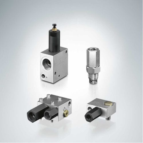 válvula de equilibrado / de pistón / con control hidráulico / de regulación de presión