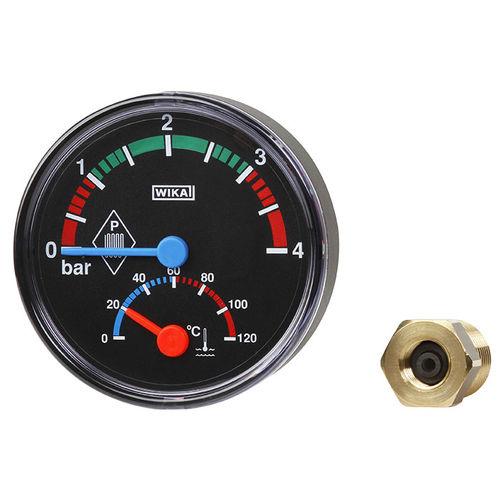 manómetro de esfera / de tubo Bourdon / de proceso / para líquido