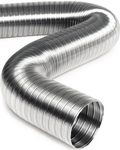 conducto de aire flexible / de acero inoxidable / de extracción / de alta temperatura