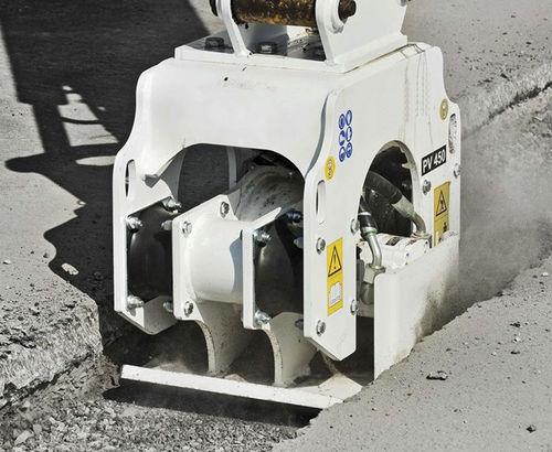 plancha vibradora para excavadora
