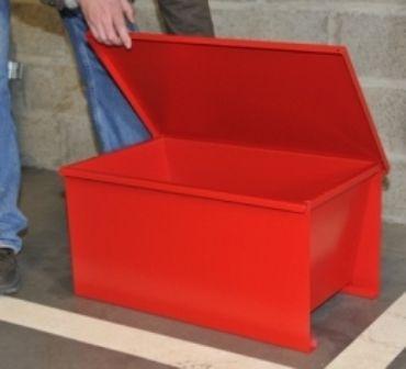 cajón de acero / para almacenamiento / de sal