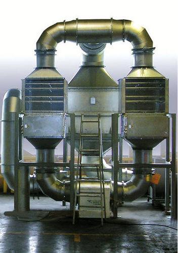 sistema de purificación con recuperación de aire precalentado en salida