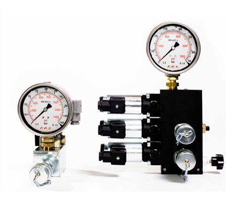 válvula con control hidráulico / para aceite / de 3 vías