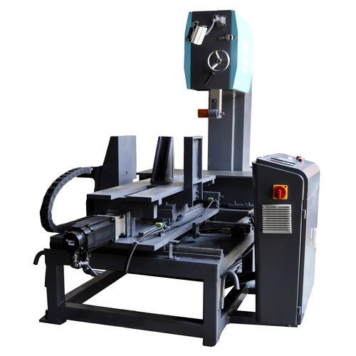 sierra de cinta / para grafito / vertical / con mesa móvil