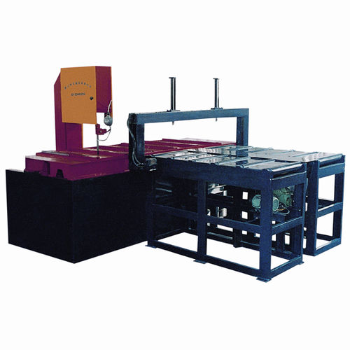 sierra de cinta / con sistema de refrigeración / de velocidad variable / con alimentación automática