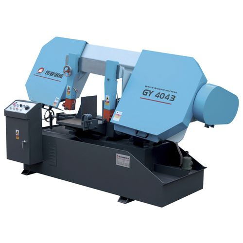 sierra de cinta / para metales / con sistema de refrigeración / de velocidad variable