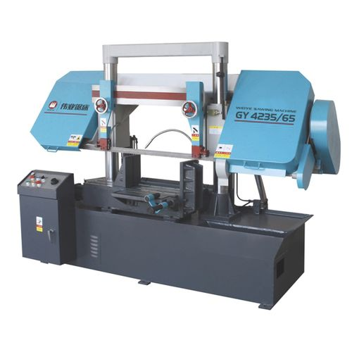 sierra de cinta / para tubos / con sistema de refrigeración / con transportador de rodillos