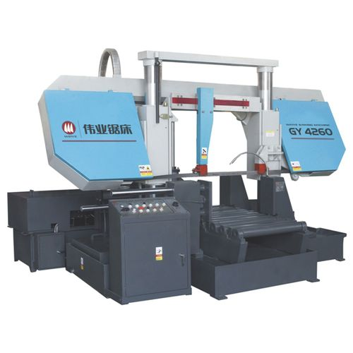 sierra de cinta / para metales / para tubos / con sistema de refrigeración