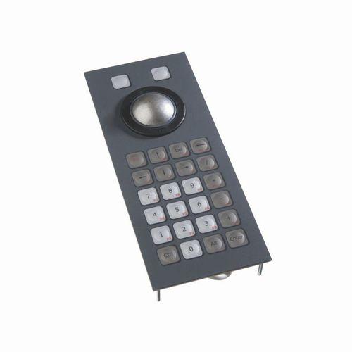 teclado numérico 24 teclas / empotrable / de silicona / IP68