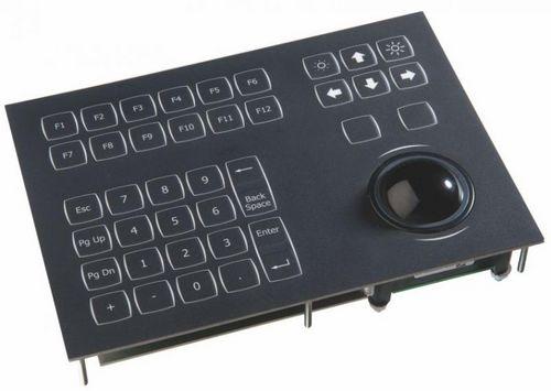 teclado empotrable / 38 teclas / con trackball / con retroiluminación