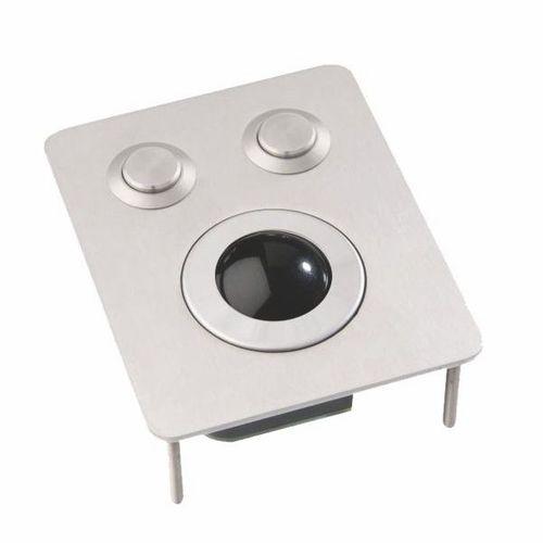 Trackball mecánico / empotrable / 1 inch (25 mm) / de acero inoxidable