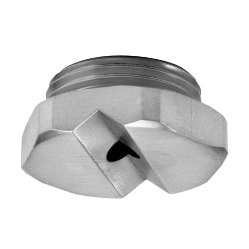 boquilla de pulverización / para líquido / de chorro plano / de acero inoxidable