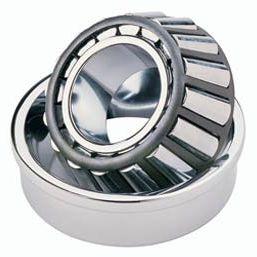 rodamiento de rodillos cónicos / de una sola hilera / de acero / con anillo de parada
