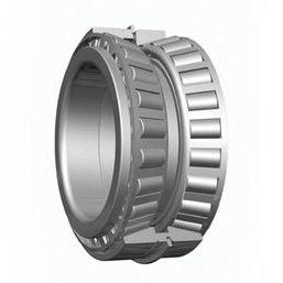 rodamiento de rodillos cónicos / de dos hileras / de acero / con anillo de parada