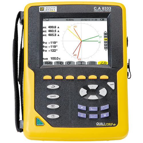 analizador de red eléctrica / de calidad de la energía / portátil / compacto