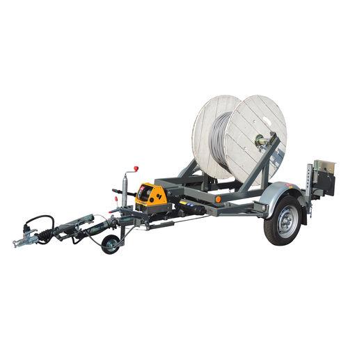 remolque de 1 eje / para transporte y tendido de cables / portabobina