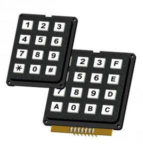 teclado numérico 12 teclas / empotrable / para control de acceso