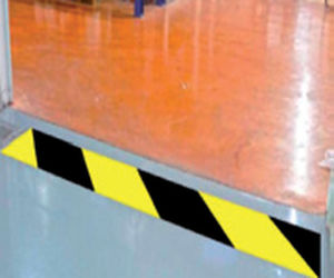 cinta adhesiva de PVC / de señalización