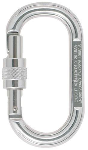 mosquetón de bloqueo / de aluminio / simétrico / oval