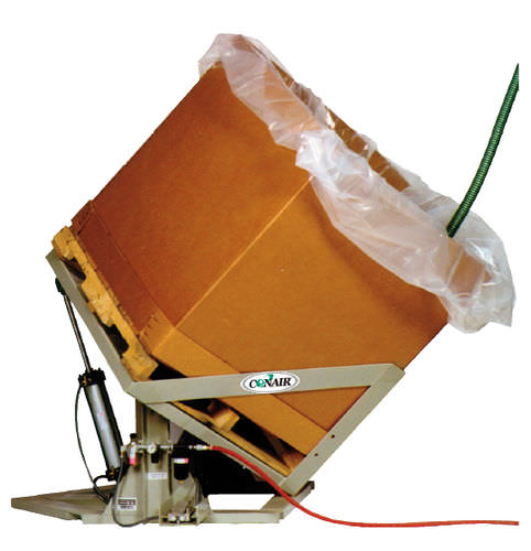 inclinador automático / eléctrico / neumático / para granulados de plástico