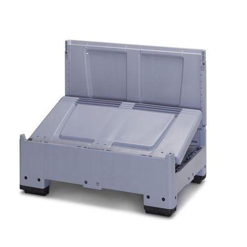 caja-palé de plástico / para almacenamiento / de transporte / plegable