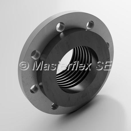 brida para tubos flexibles / de plástico / de aluminio / perforada