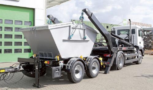 remolque en tándem / para equipamiento industrial / para contenedores / compacto