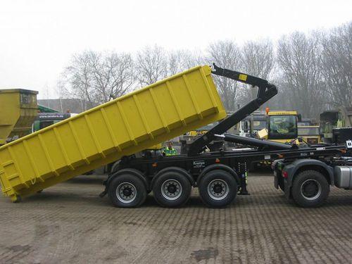 semiremolque de 3 ejes / para contenedores / hidráulico / para carga pesada